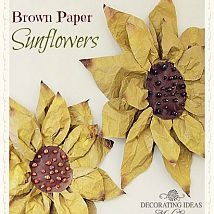 Hometalk :: I just finished making these sunflowers out of brown paper! They were…