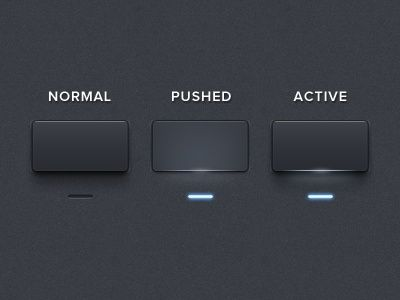 Interface design inspiration- would be cool to make website buttons look like real buttons