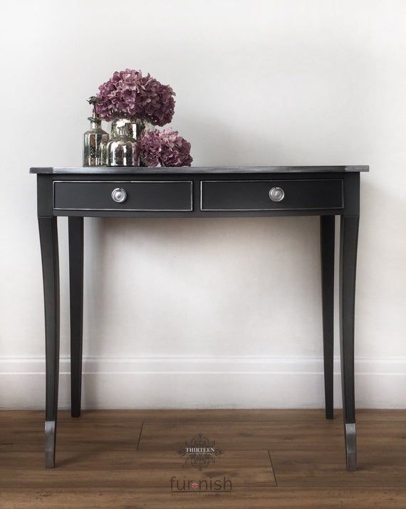 Console Tablehall Table With Drawers Silver Console Table