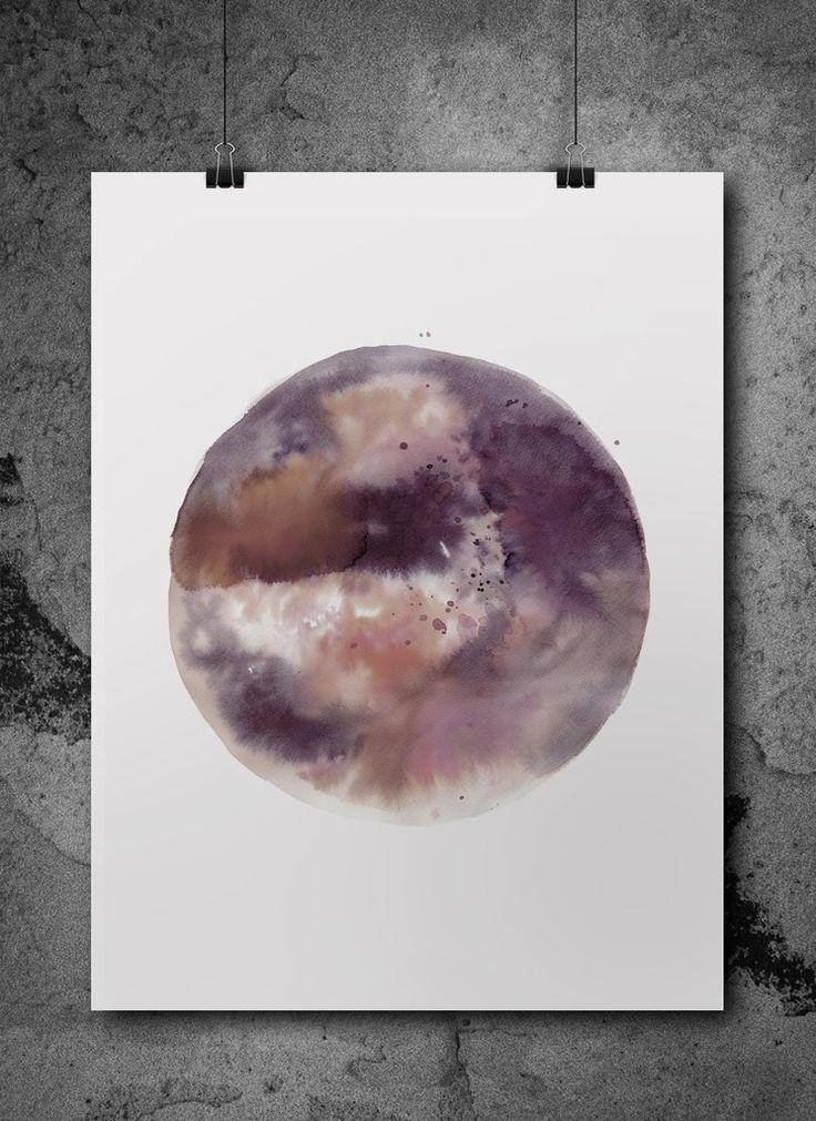 cosmo  watercolour print