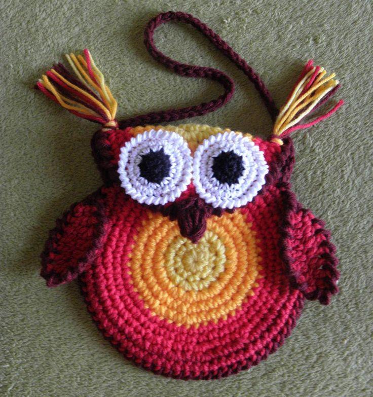 Reference Crochet owl bag Que hacer en casa, con el crochet, ganchillo o agujas? | LA CAJITA MUSICAL DE NOHELIA