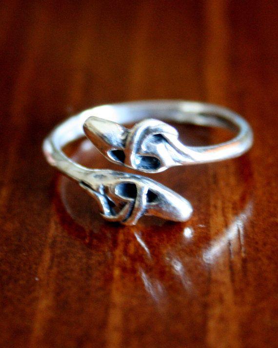 Ballet Dancer's Ring, Sterling Silver Ballet Slippers Ring for Ballerina Dancer Gift (Adjustable Size) on Etsy, $32.37 CAD