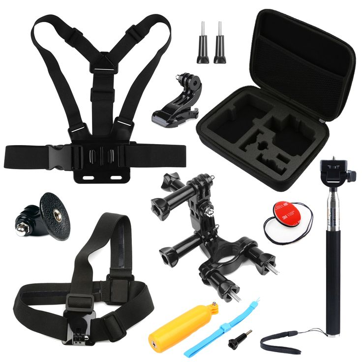 SHOOT Action Camera Accessories Set Head Chest Strap for GoPro Hero 5 4 3 SJCAM Xiaomi Yi 4k Sony action camera go pro mount #Affiliate