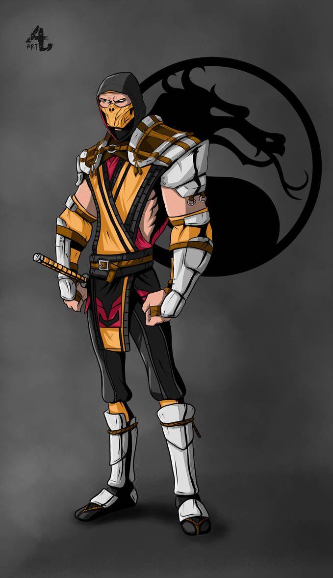 Scorpion Mk 11 By Dubcarnage Mortal Kombat Art Mortal Kombat 9