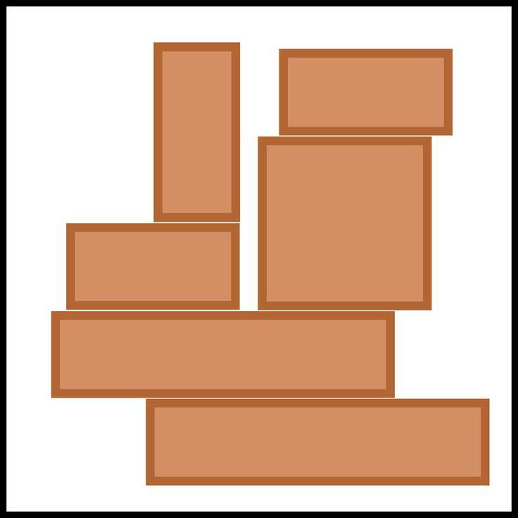 Kaartjes kiesbord - grote blokken - bouwhoek
