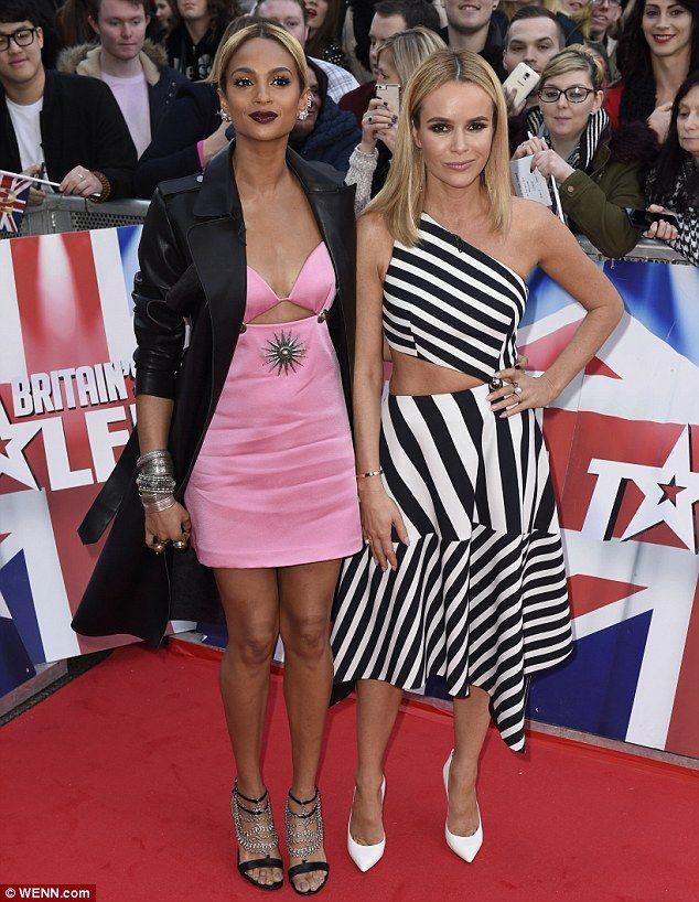 Britain's got glamour: Arriving at the city's Hippodrome Theatre alongside Amanda Holden, ...