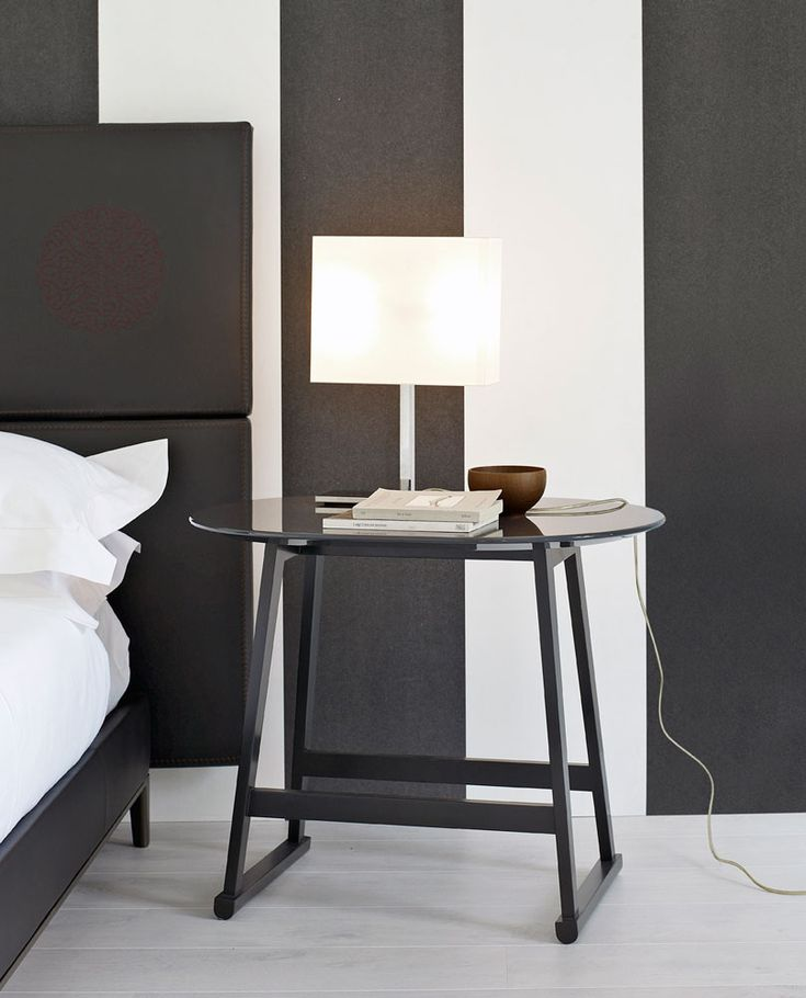 Small tables: RECIPIO – Collection: Maxalto B&B Italia – Design: Antonio Citterio finishes seem to be black and white but I have seen it in red?