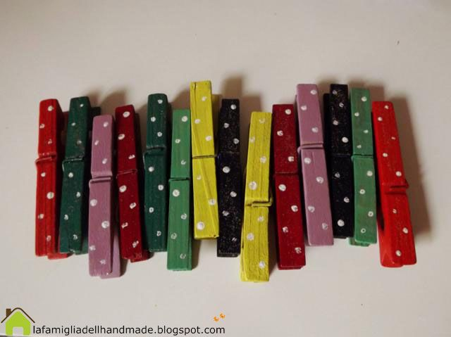 Recyled clips - Mollette di legno decorate shabby - Tutorial