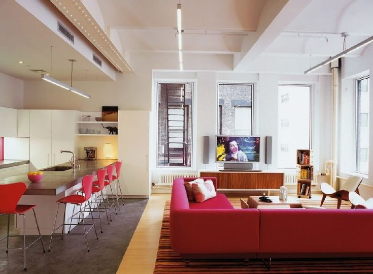 Tribeca family loft projects colorful cheerful vibes http freshome com