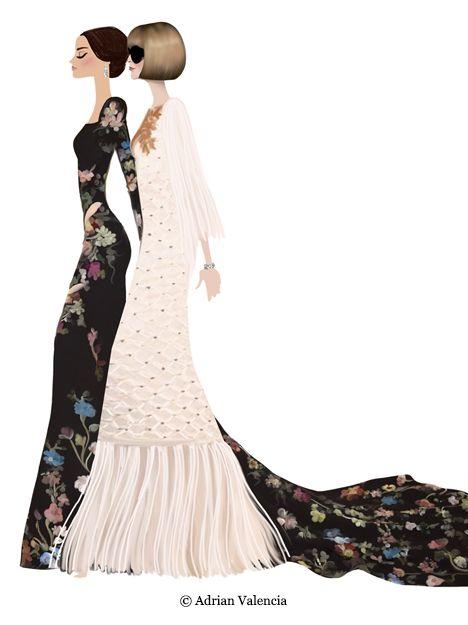 Met Gala 2016 by Adrian Valencia #fashionillustration #artluxedesigns