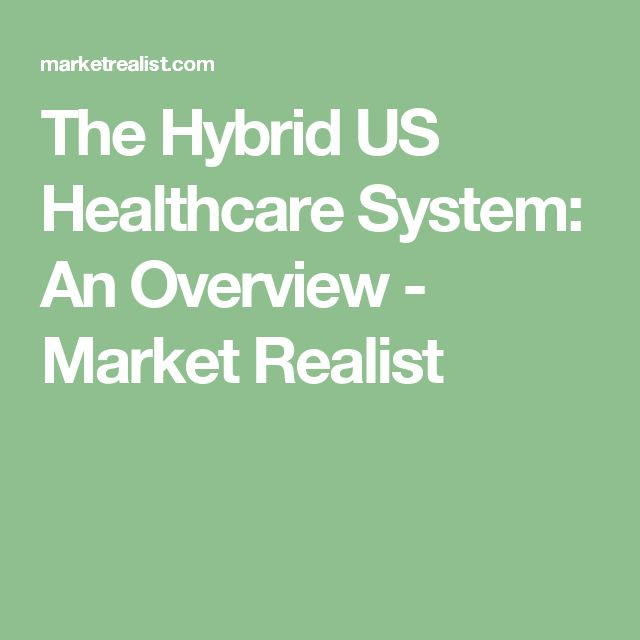 The Hybrid US Healthcare System: An Overview - Market Realist