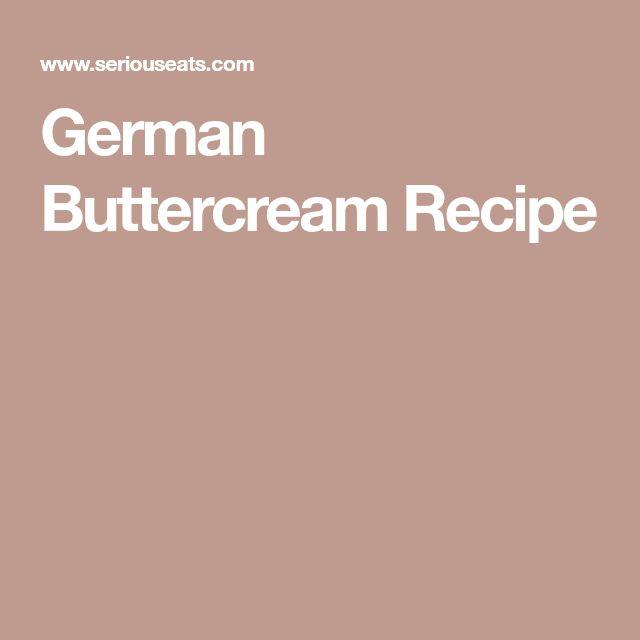 German Buttercream Recipe