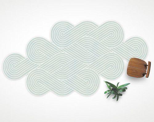 Tapis Tresse par Samuel Accoceberry - Blog Esprit Design #tapis #deco