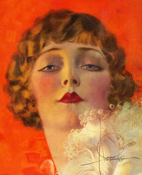 You'll Never Forget Her, 1930s, artwork, Rolf Armstrong, vintage.