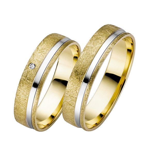 golddiamond wedding bands by lenafashion8 on Etsy, $1958.00