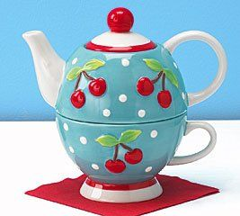 Image detail for -... Duo Teapot And Teacup For One Great Valentine Gift Kitchen Decor