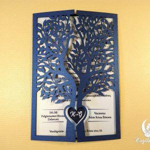 Fa formájú lézervágott esküvői meghívó #lézervágott #esküvői #meghívó #esküvőimeghívó #lasercutting #wedding #weddinginvitations #tree #unique #love #birds