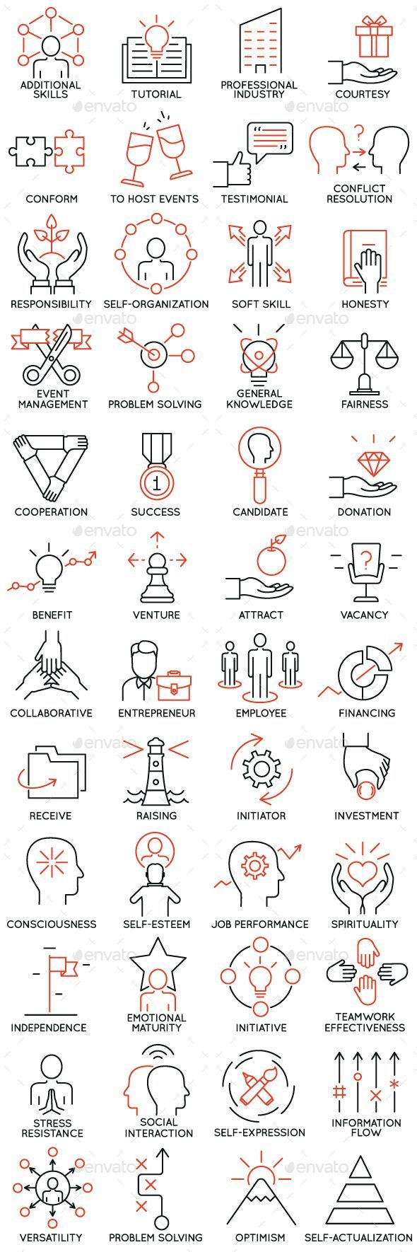 Icons Set of Business Management - part 4 - Business Icons