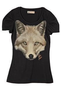 Camiseta Feminina Manga Curta Estampada Ref. 340101484-0050 Colcci Preto