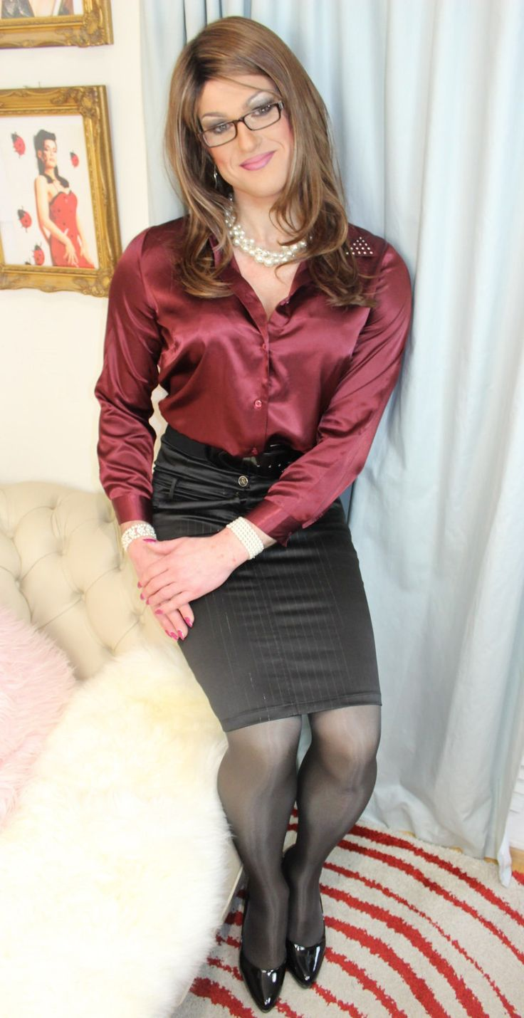 from Stephen transgender satin blouse