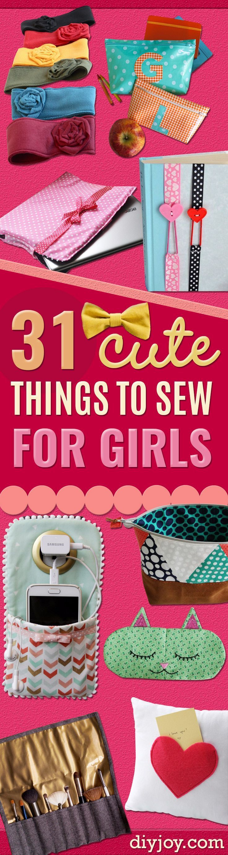 Best Sewing Projects to Make For Girls - Creative Sewing Tutorials for Baby Kids and Teens - Free Patterns and Step by Step Tutorials for Dresses, Blouses, Shirts, Pants, Hats and Bags - Easy DIY Projects and Quick Crafts Ideas http://diyjoy.com/cute-sewing-projects-for-girls