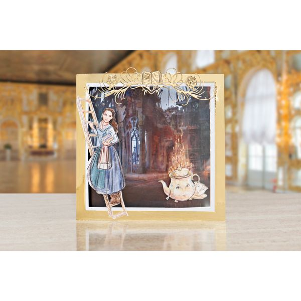 Disney Beauty and the Beast Theatrical Enchanted Character Die Set and Face Stamps No Colour