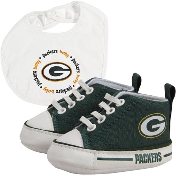 """""""As a parent, there are a lot of good traits you want to pass down to your kid. As an NFL fan, you know that one of those traits has to be die-hard team spirit. This bib and shoe gift set will have yo"""