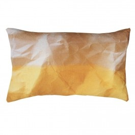 We love these crinkled paper linen cushions, also available in Indigo.