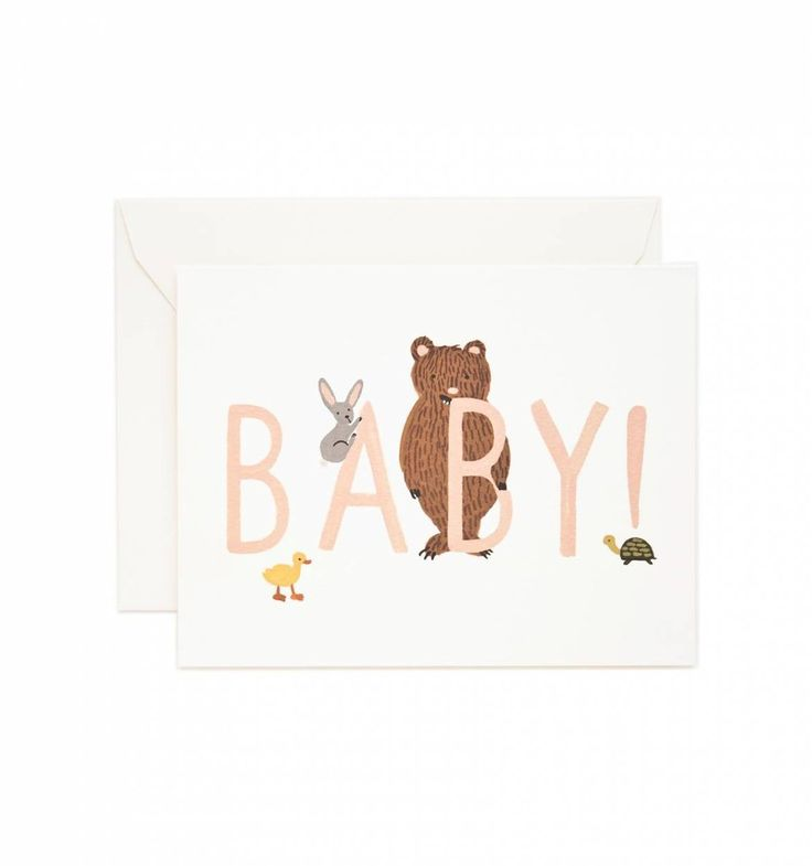 Lovely peach & pastel baby card, perfect for little girls. Online at www.moss.ie, or come in and say hello on Dundrum Main Street