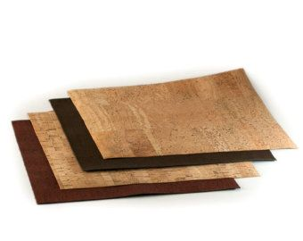 Cork Fabric Cork Leather Eco-friendly Vegan Natural by Niuluk