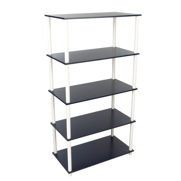 This Home Storage 5 Flat Shelving Unit Vertical Rack System Navy  does not require tools to assemble. They work as a storage unit.