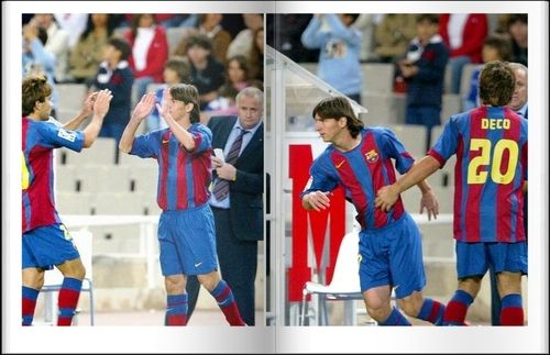 Dia memorável : Olá,  Hoje está fazendo 9 anos da estréia do Leo no time principal do Barcelona em uma partida oficial. Em 16 de outubro de 2004 aos 81 minutos de jogo contra o Espanyol, Messi entrava em campo no lugar de Deco, poucos imaginavam, mas ali começava a trajetória vitoriosa de um jogador que iria entrar para a história do clube. Messi tinha 17 anos, e desde esta data foram 388 partidas oficiais e 324 gols. Ganhou 6 Ligas, 2 Copas del R
