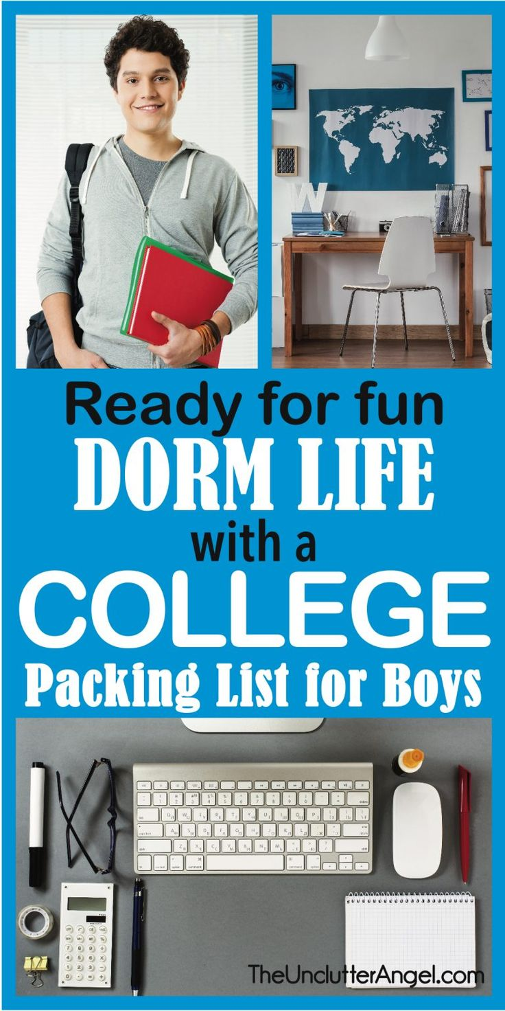 Ready for Fun Dorm Life with a College Packing List for Boys – College