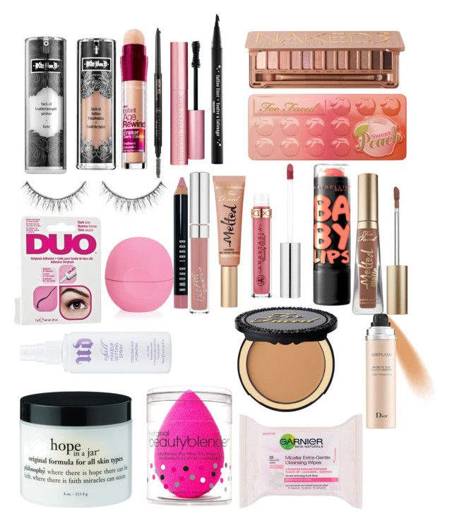 """""""My Makeup Must haves"""" by classyfashionqueen ❤ liked on Polyvore featuring beauty, Kat Von D, Maybelline, Urban Decay, Too Faced Cosmetics, Anastasia, Sephora Collection, Bobbi Brown Cosmetics, Christian Dior and beautyblender"""