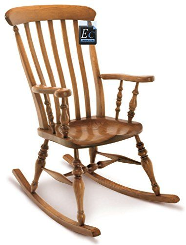 SOLID ASH FARMHOUSE ROCKING CHAIR : MADE IN ENGLAND: A Superb, English Chair made in Solid Ash : Size (cm ) 107h x 53w: Traditional English Design, Hand Made to Order: Lead Time 6 / 8 Weeks