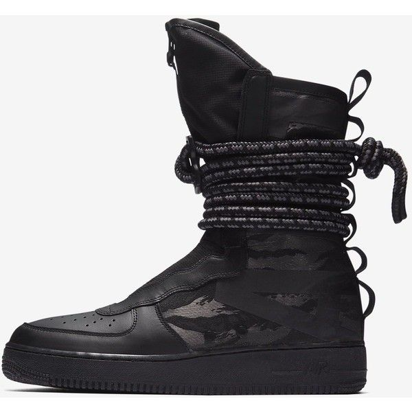 Nike SF Air Force 1 Hi Men's Boot. Nike.com ($100) ❤ liked on Polyvore featuring men's fashion, men's shoes, men's boots, mens boots, nike mens shoes, nike mens boots and mens shoes