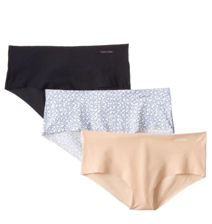 Calvin Klein Three-Pack Hipster Panties Women's Black/ Print /Nude  S  | eBay