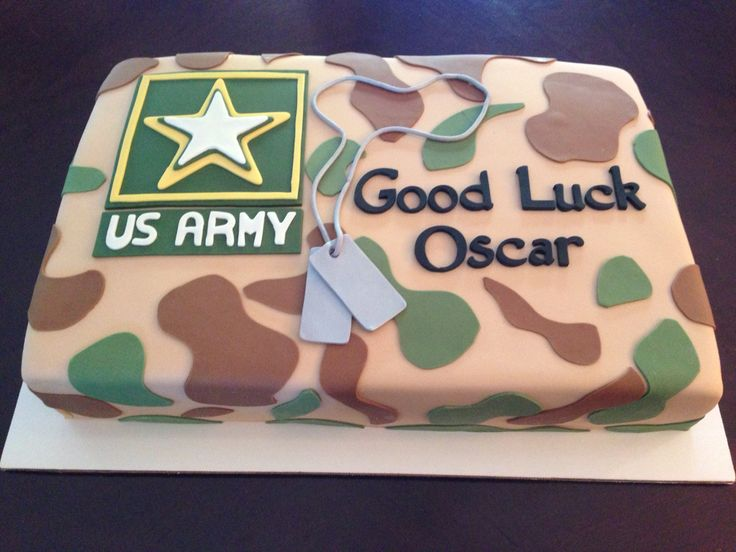Good Luck At Us Army Bootcamp Cake