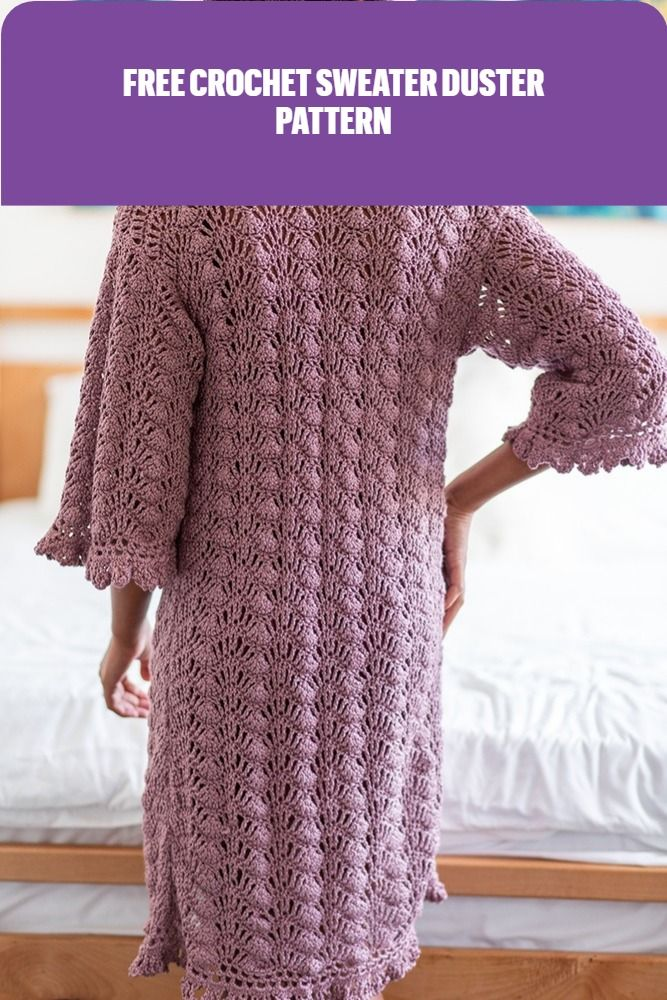 Free Crochet Pattern Light And Breezy Art Deco Dressing Gown Duster Pattern Free Crochet Crochet Pattern