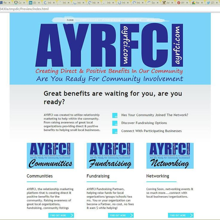 The new Web site design is finally taking shape, combining all the programs into 1 site & might be able to launch Sun or Monday.  #AYRFCI #TARH #LiveLifeWithLove #JohnEWalker #Oshawa #AYRFCIOshawa