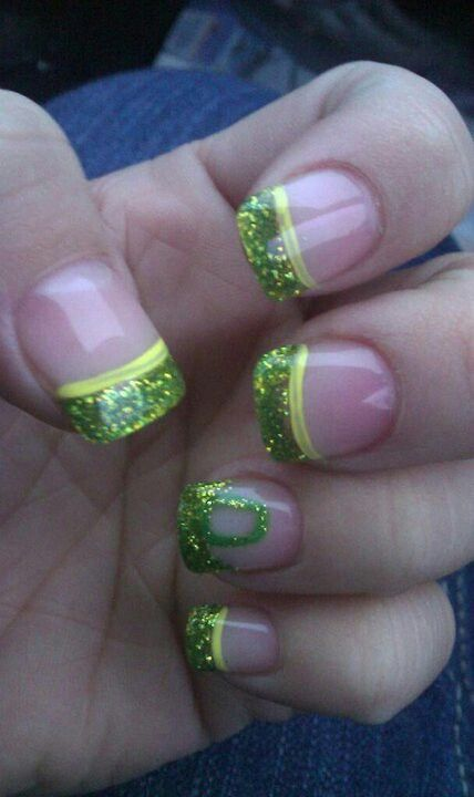 My Oregon Duck nails