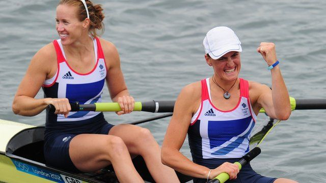 BBC Sport - Olympics rowing: Glover and Stanning win gold for Britain