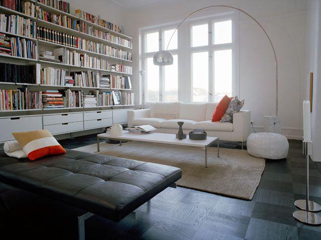 clean modern library