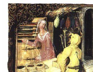 Ilustracja z Kodeksu Behema - kramarz