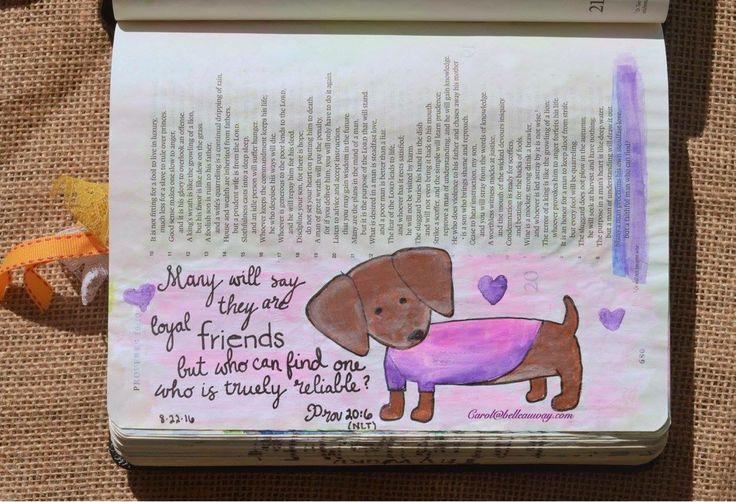 Proverbs 20:6, August 22, 2016 carol@belleauway.com, Watercolor, Illustrated Faith Pen, bible art journaling, bible journaling, illustrated faith