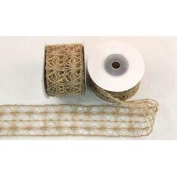 Κορδέλα Λινάτσα Φαρδιά Δίχτυ 5cm