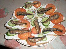 Рыбные закуски и салаты, сельдь в салатах,икра. | 119 фотографий