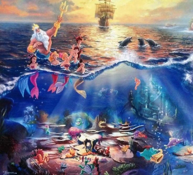 Thomas Kinkade - Disney - The Little Mermaid
