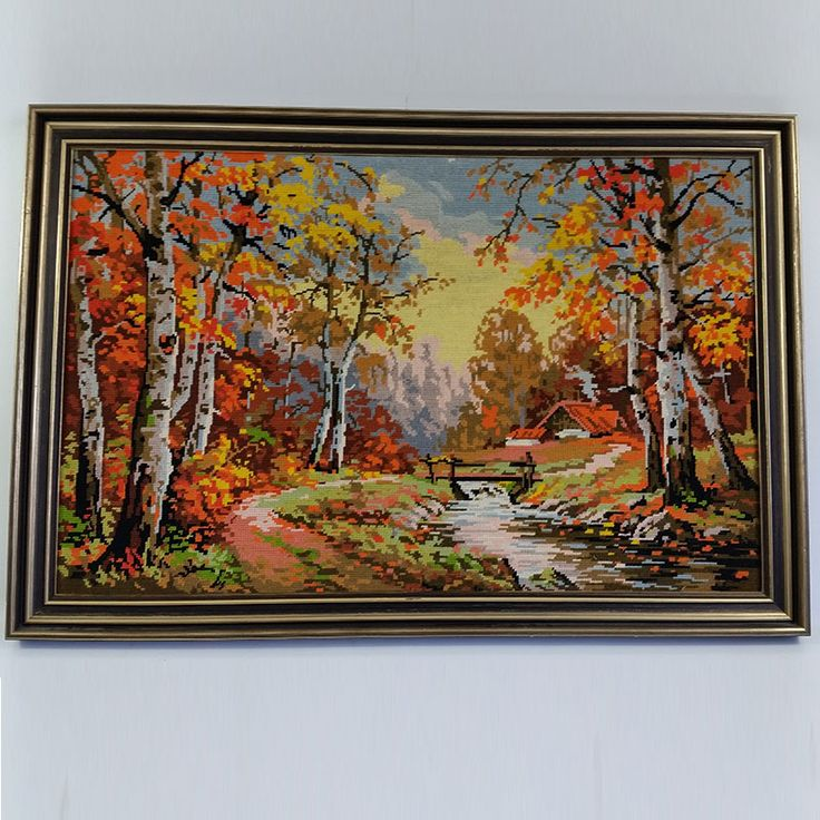 A great example of retro tapestry. Very kitsch.