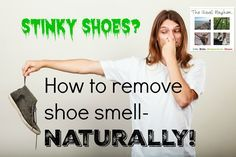 How to remove shoe smell naturally from stinky shoes using only pure ingredients! A quick, simple, and effective solution that you can make right now.
